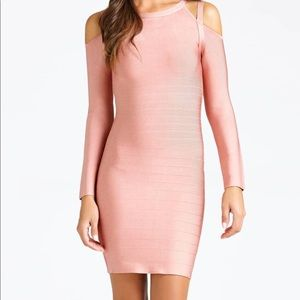 Marciano Bandage Dress with Cold Shoulder
